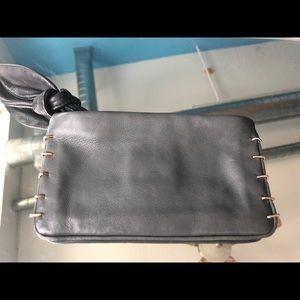 Gray Leather Wrislet by M Missoni